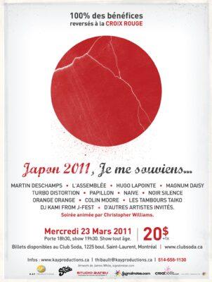 Japon 2011, je me souviens poster